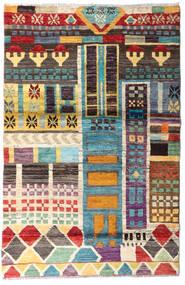 Moroccan Berber - Afghanistan Dywan 113X174 Nowoczesny Tkany Ręcznie Ciemnobrązowy (Wełna, Afganistan)