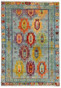 Moroccan Berber - Afghanistan Dywan 124X176 Nowoczesny Tkany Ręcznie Jasnoszary/Brązowy (Wełna, Afganistan)