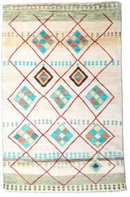 Moroccan Berber - Afghanistan Dywan 118X184 Nowoczesny Tkany Ręcznie Biały/Creme/Beżowy (Wełna, Afganistan)