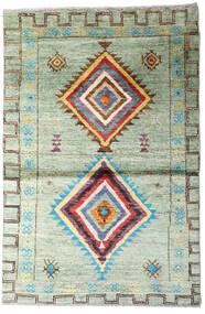 Moroccan Berber - Afghanistan Dywan 114X170 Nowoczesny Tkany Ręcznie Pastel Zielony/Beżowy (Wełna, Afganistan)