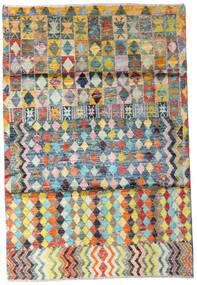 Moroccan Berber - Afghanistan Dywan 119X174 Nowoczesny Tkany Ręcznie Beżowy/Ciemnoszary (Wełna, Afganistan)