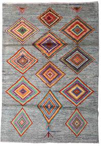 Moroccan Berber - Afghanistan Dywan 125X178 Nowoczesny Tkany Ręcznie Jasnoszary/Ciemnoszary (Wełna, Afganistan)