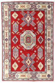 Kazak Dywan 98X150 Orientalny Tkany Ręcznie Beżowy/Rdzawy/Czerwony (Wełna, Afganistan)