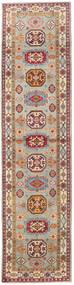 Kazak Dywan 86X349 Orientalny Tkany Ręcznie Chodnik Jasnobrązowy/Jasnoszary (Wełna, Afganistan)