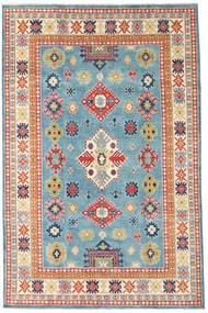 Kazak Dywan 193X296 Orientalny Tkany Ręcznie Ciemnobeżowy/Turkusowy Niebieski (Wełna, Afganistan)