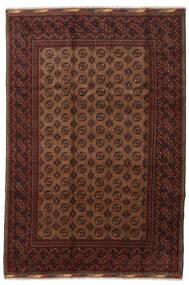Afgan Dywan 201X294 Orientalny Tkany Ręcznie Ciemnoczerwony/Brązowy (Wełna, Afganistan)