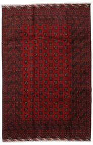 Afgan Dywan 201X298 Orientalny Tkany Ręcznie Ciemnoczerwony (Wełna, Afganistan)