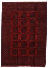 Afgan Dywan 203X286 Orientalny Tkany Ręcznie Ciemnobrązowy/Ciemnoczerwony (Wełna, Afganistan)