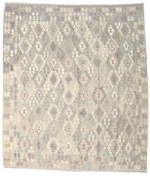 Kilim Afgan Old Style Dywan 264X302 Orientalny Tkany Ręcznie Jasnoszary/Beżowy Duży (Wełna, Afganistan)