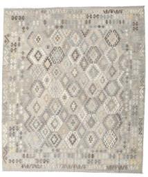 Kilim Afgan Old Style Dywan 257X296 Orientalny Tkany Ręcznie Jasnoszary Duży (Wełna, Afganistan)
