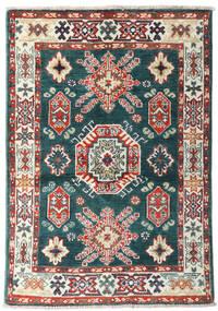 Kazak Dywan 87X126 Orientalny Tkany Ręcznie Niebieski/Beżowy (Wełna, Afganistan)