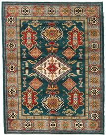 Kazak Dywan 155X203 Orientalny Tkany Ręcznie Ciemnozielony/Ciemnoniebieski (Wełna, Afganistan)