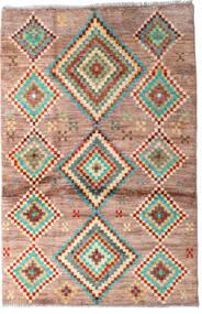 Moroccan Berber - Afghanistan Dywan 91X138 Nowoczesny Tkany Ręcznie Ciemnobrązowy/Ciemnoczerwony (Wełna, Afganistan)