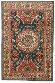 Kazak Dywan 119X183 Orientalny Tkany Ręcznie Ciemnoszary/Czerwony (Wełna, Pakistan)