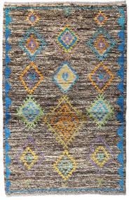 Moroccan Berber - Afghanistan Dywan 93X143 Nowoczesny Tkany Ręcznie Jasnoszary/Ciemnoszary (Wełna, Afganistan)