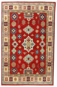 Kazak Dywan 118X187 Orientalny Tkany Ręcznie Rdzawy/Czerwony/Brązowy (Wełna, Afganistan)