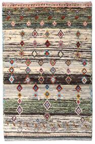 Moroccan Berber - Afghanistan Dywan 88X135 Nowoczesny Tkany Ręcznie Beżowy/Ciemnoszary (Wełna, Afganistan)