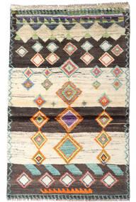 Moroccan Berber - Afghanistan Dywan 87X138 Nowoczesny Tkany Ręcznie Beżowy/Ciemnobrązowy (Wełna, Afganistan)