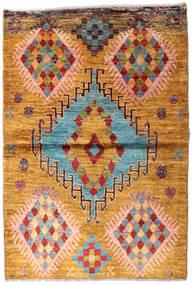 Moroccan Berber - Afghanistan Dywan 94X139 Nowoczesny Tkany Ręcznie Jasnobrązowy (Wełna, Afganistan)