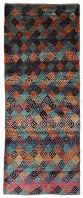 Moroccan Berber - Afghanistan Dywan 74X188 Nowoczesny Tkany Ręcznie Chodnik Ciemnoniebieski/Czarny (Wełna, Afganistan)