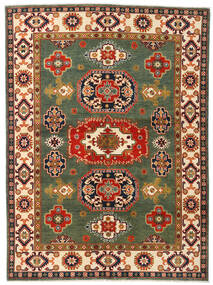 Kazak Dywan 155X211 Orientalny Tkany Ręcznie Ciemnozielony/Czerwony (Wełna, Afganistan)