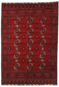 Afgan Dywan 202X289 Orientalny Tkany Ręcznie Ciemnoczerwony/Czerwony (Wełna, Afganistan)