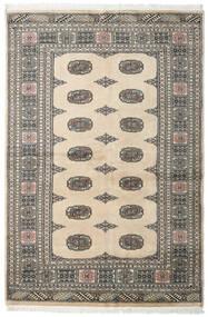 Pakistański Bucharski 2Ply Dywan 132X197 Orientalny Tkany Ręcznie Jasnoszary/Ciemnoszary/Beżowy (Wełna, Pakistan)