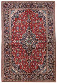 Keszan Dywan 149X223 Orientalny Tkany Ręcznie Ciemnoczerwony/Ciemnofioletowy (Wełna, Persja/Iran)