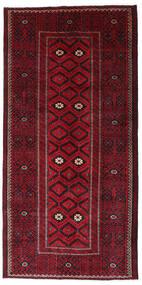 Beludż Dywan 129X262 Orientalny Tkany Ręcznie Chodnik Ciemnoczerwony/Ciemnobrązowy (Wełna, Persja/Iran)