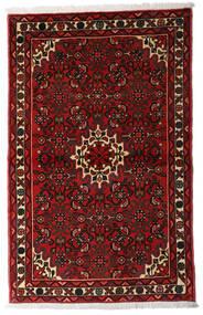 Hosseinabad Dywan 96X152 Orientalny Tkany Ręcznie Ciemnoczerwony/Rdzawy/Czerwony (Wełna, Persja/Iran)