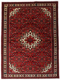 Hosseinabad Dywan 110X150 Orientalny Tkany Ręcznie Ciemnoczerwony (Wełna, Persja/Iran)