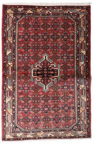 Asadabad Dywan 100X152 Orientalny Tkany Ręcznie Czarny/Ciemnobrązowy (Wełna, Persja/Iran)
