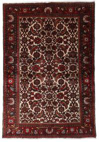 Hamadan Dywan 98X147 Orientalny Tkany Ręcznie Ciemnoczerwony/Ciemnobrązowy (Wełna, Persja/Iran)