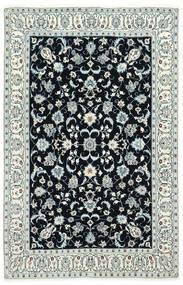 Nain 6La Dywan 130X200 Orientalny Tkany Ręcznie Ciemnoniebieski/Beżowy (Wełna/Jedwab, Persja/Iran)