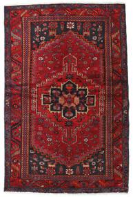 Hamadan Dywan 131X201 Orientalny Tkany Ręcznie Ciemnoczerwony/Ciemnobrązowy (Wełna, Persja/Iran)