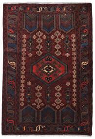 Hamadan Dywan 124X182 Orientalny Tkany Ręcznie Czarny/Ciemnoczerwony (Wełna, Persja/Iran)