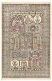 Ilam Sherkat Farsh Jedwab Dywan 148X223 Orientalny Tkany Ręcznie Jasnoszary/Beżowy (Wełna/Jedwab, Persja/Iran)