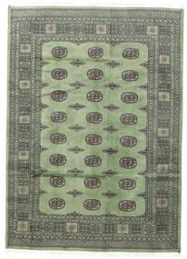 Pakistański Bucharski 2Ply Dywan 167X233 Orientalny Tkany Ręcznie Ciemnoszary/Pastel Zielony (Wełna, Pakistan)