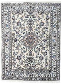 Nain Dywan 145X191 Orientalny Tkany Ręcznie Jasnoszary/Ciemnoszary (Wełna, Persja/Iran)