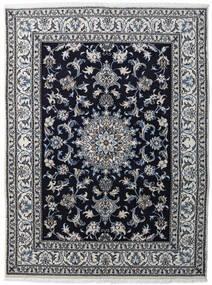 Nain Dywan 147X198 Orientalny Tkany Ręcznie Jasnoszary/Czarny/Ciemnoszary (Wełna, Persja/Iran)