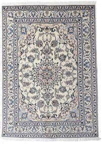 Nain Dywan 145X204 Orientalny Tkany Ręcznie Jasnoszary/Ciemnoszary (Wełna, Persja/Iran)