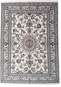 Nain Dywan 147X206 Orientalny Tkany Ręcznie Jasnoszary/Ciemnoszary (Wełna, Persja/Iran)