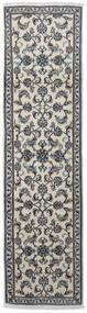 Nain Dywan 76X290 Orientalny Tkany Ręcznie Chodnik Jasnoszary/Ciemnoszary (Wełna, Persja/Iran)