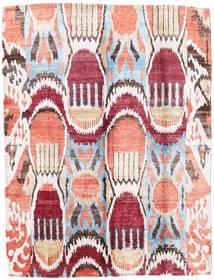 Sari Czysty Jedwab Dywan 154X204 Nowoczesny Tkany Ręcznie Beżowy/Ciemnobeżowy (Jedwab, Indie)