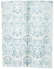 Sari Czysty Jedwab Dywan 153X200 Nowoczesny Tkany Ręcznie Biały/Creme/Jasnoniebieski (Jedwab, Indie)