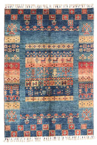 Nowoczesne Afgan Dywan 87X124 Nowoczesny Tkany Ręcznie Ciemnoniebieski/Niebieski (Wełna, Afganistan)
