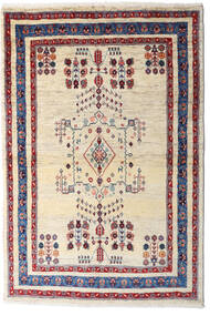 Loribaft (Persja) Dywan 98X145 Nowoczesny Tkany Ręcznie Beżowy/Ciemnofioletowy (Wełna, Persja/Iran)