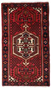 Hamadan Dywan 77X135 Orientalny Tkany Ręcznie Ciemnoczerwony/Rdzawy/Czerwony (Wełna, Persja/Iran)