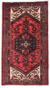 Hamadan Dywan 70X130 Orientalny Tkany Ręcznie Ciemnoczerwony/Czarny (Wełna, Persja/Iran)