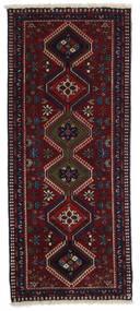 Yalameh Dywan 60X145 Orientalny Tkany Ręcznie Chodnik Ciemnoczerwony (Wełna, Persja/Iran)